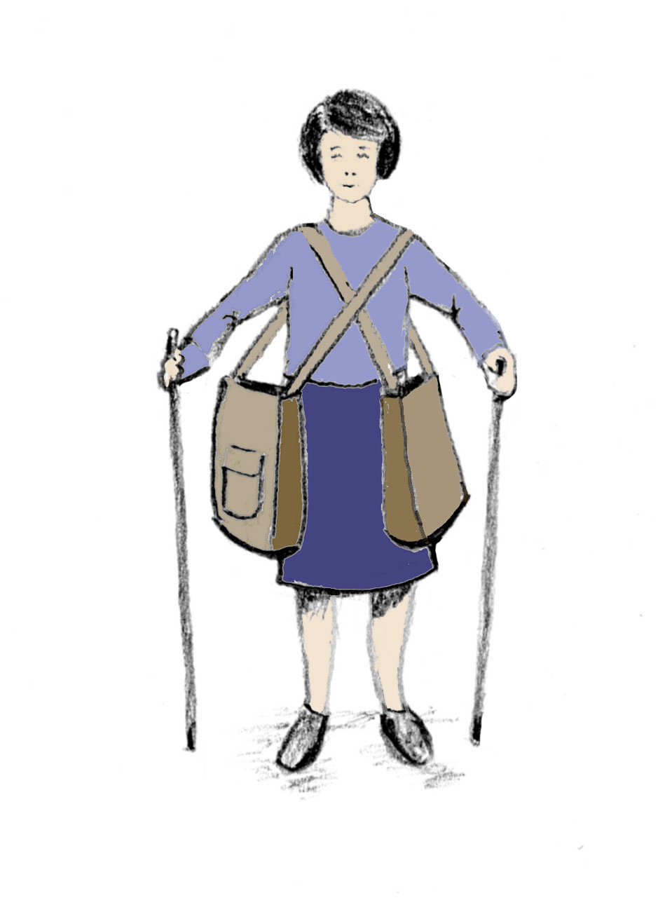 Handbagage Två Väskor : Axelkassar f?r dig med r?relsehinder som anv?nder kryckor