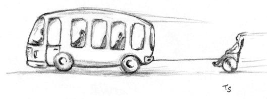 Rullstol efter buss