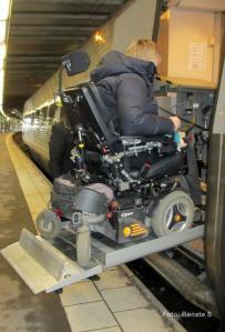Rullstol på Centralen