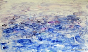 Akvarell hav vatten